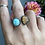 Thumbnail: Hubei Turquoise and Montana Agate Open Ring
