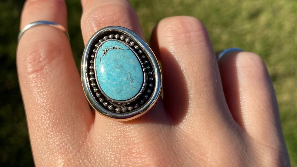 Baby Blue Hubei Turquoise Ring