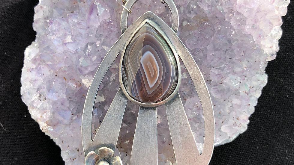 Botswana Agate Rays Pendant