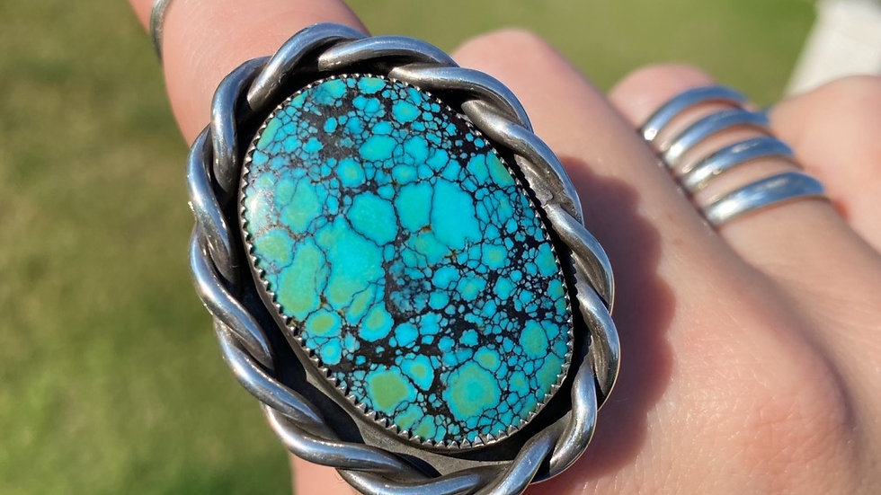 High Grade Bao Canyon Turquoise Ring