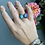 Thumbnail: Whitewater Turquoise and Rainbow Moonstone Open Ring