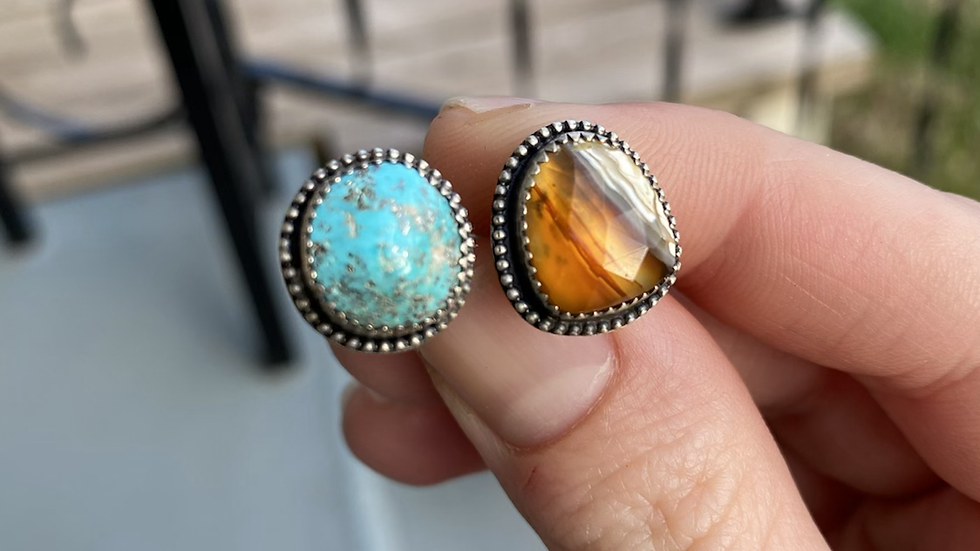 Pyrite Flecked Sleeping Beauty Turquoise and Montana Agate