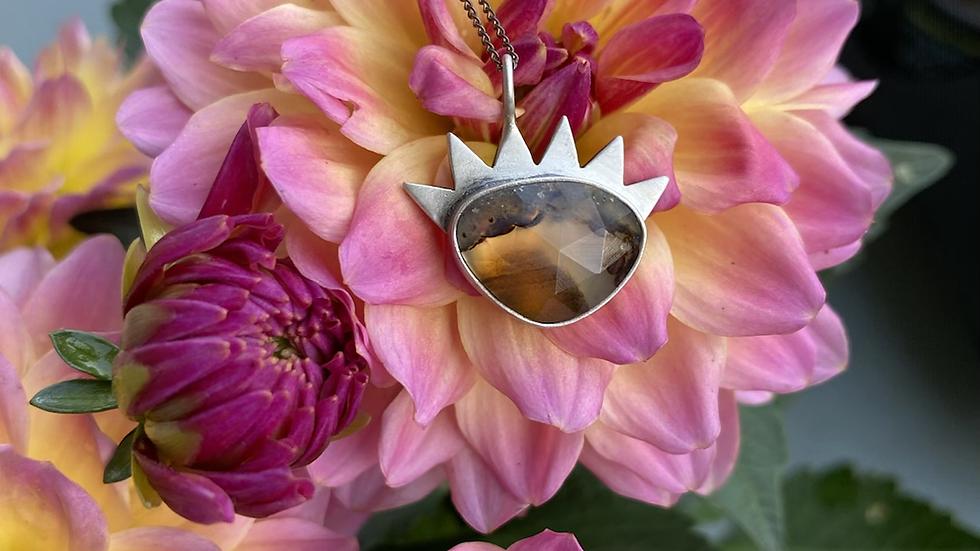 Montana Agate Evil Eye Necklace