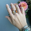 Thumbnail: Montana Agate and Baltic Amber Open Ring