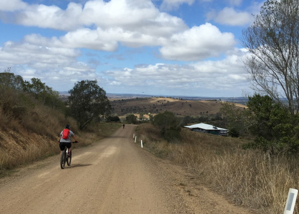 Nice downhills heading into Nanango