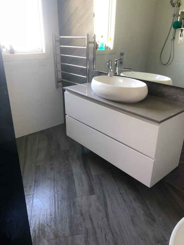 Bathroom Sink and Floor