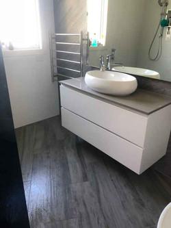 Bathroom Sink and Floor
