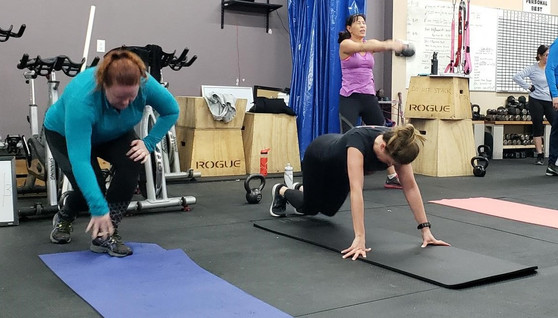 Amy and Tara in Burpee Hell