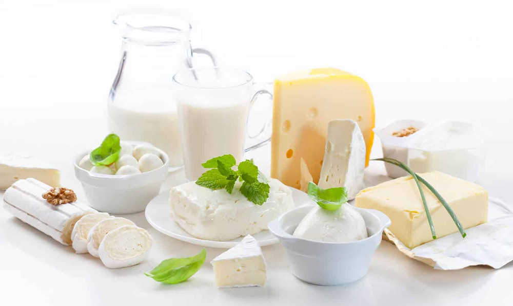 Dairy are things made of milk including milk.
