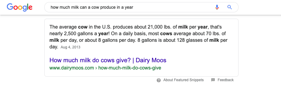 An average cow produces 21,000 lbs of milk