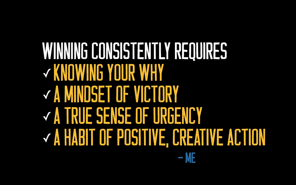 Motivational speaker Tim Wade's 4 elements of Winning Consistently