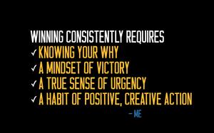Motivational speaker Tim Wade's 4 elements of Winning Consistently