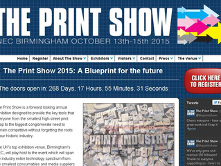 Just signed up for The Print Show at the NEC in October