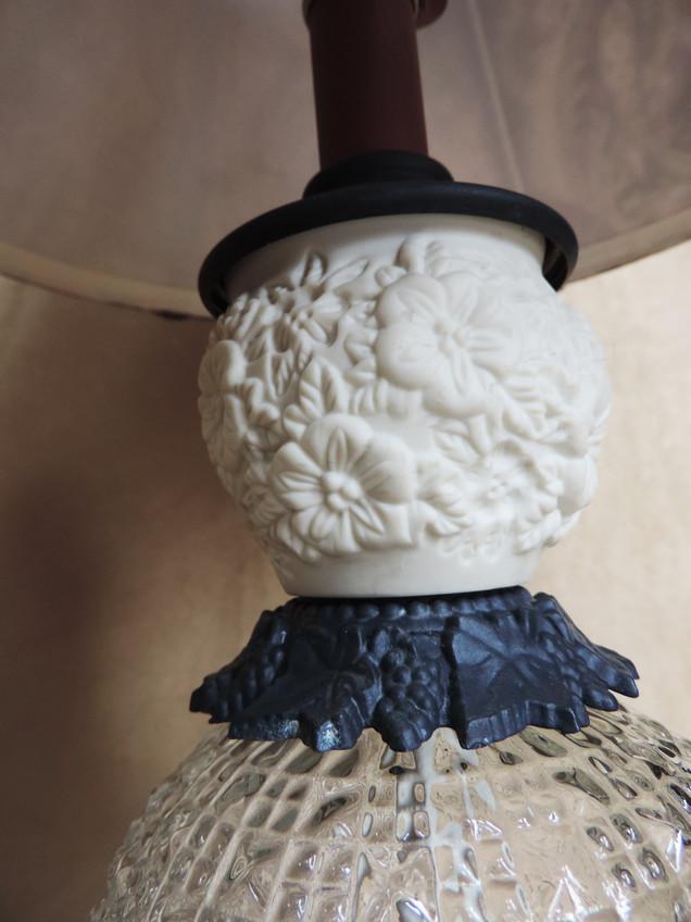 Flowered Bisque Vase