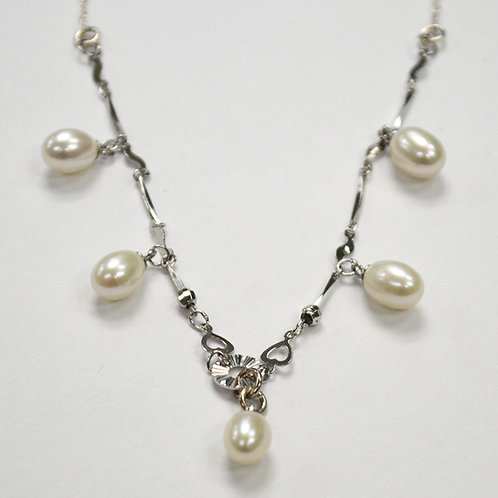 Pearl Necklace Sterling Silver 551020