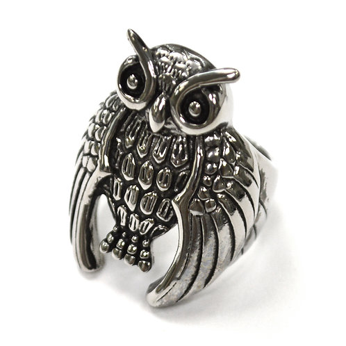Owl Stainless Steel Ring  81-1374