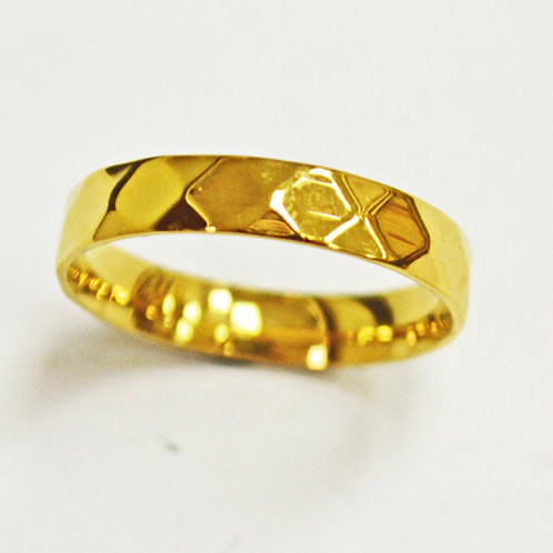 Diamond Cut Gold Plated Ring (4mm) 81-1321G-4
