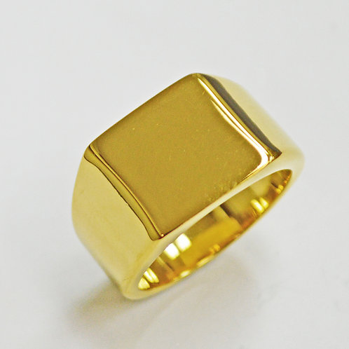 SIGNET GOLD IP PLATE RING (14x14mm) 81-1253G