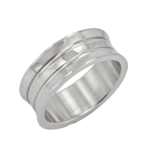 STAINLESS STEEL RING (8mm) 81-398