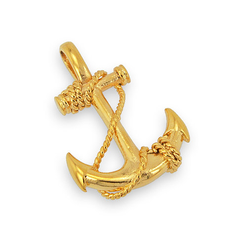 ANCHOR Gold Plated Pendant 86-1586G