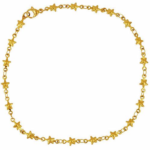 Star Link Gold IP Plated Anklet 82-172G