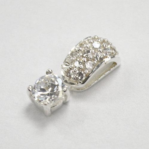 CZ Stone Pendant Sterling Silver 562003