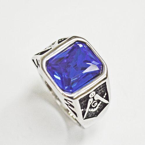BLUE STONE MASONIC RING 81-1236S-SB