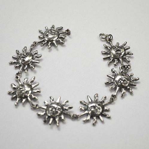 Sun Face Sterling Silver Bracelet 542033