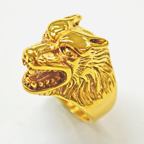 WOLF GOLD IP PLATE RING (17x25mm) 81-455GG