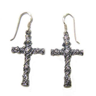 Cross Sterling Silver Earrings 531081