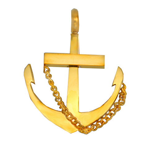 ANCHOR Gold Plated Pendant 86-1881G