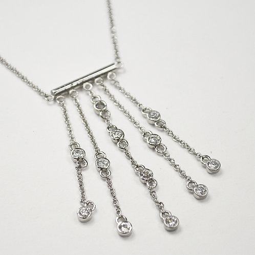 Designer Inspired Sterling Silver Necklace 551002