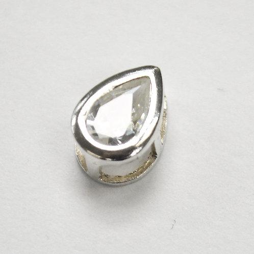 CZ Stone Slider Pendant Sterling Silver 562007