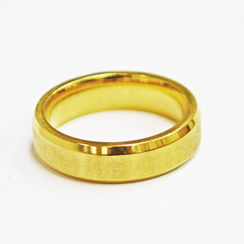 Matte Finished Gold Plated Ring (6mm) 81-239G-6