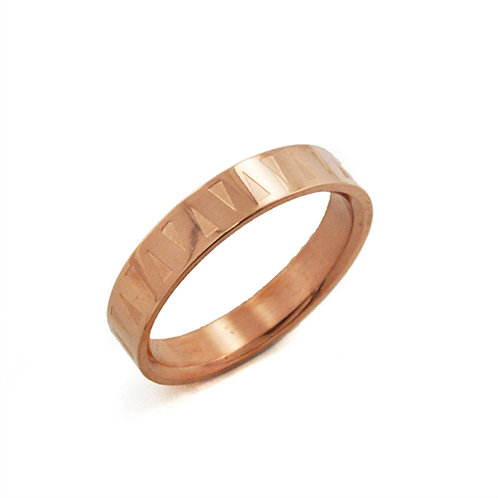 Rose Gold Plated Ring (4mm) 81-226