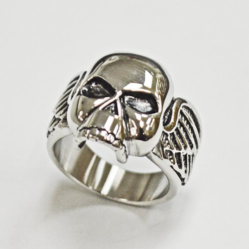 Skull with Wing Ring (21mm) 81-1303