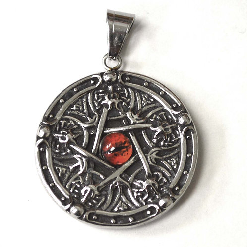 Pentagram Stainless Steel Pendant 86-2434