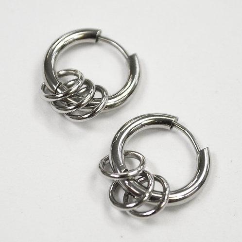 Hoops Earrings Stainless Steel  83-774S
