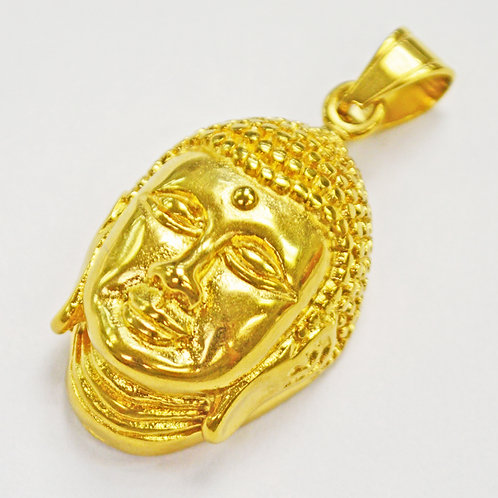 Buddha Face Gold Plated Pendant(25x37mm)