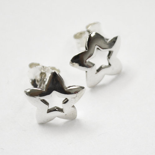 Star Stud Earring Sterling Silver 535206