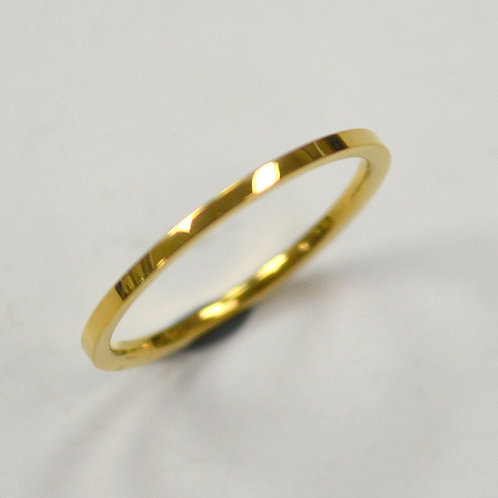 1mm Flat Plain Band Gold Plated RING 81-827-1