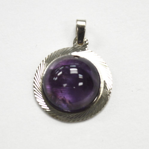 Amethyst Stone Pendant Sterling Silver 563017