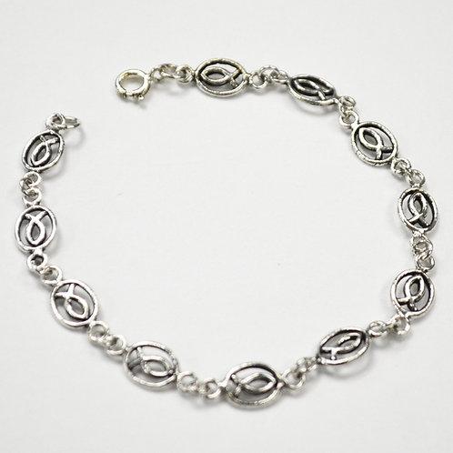 X'tian Fish Sterling Silver Bracelet 542005