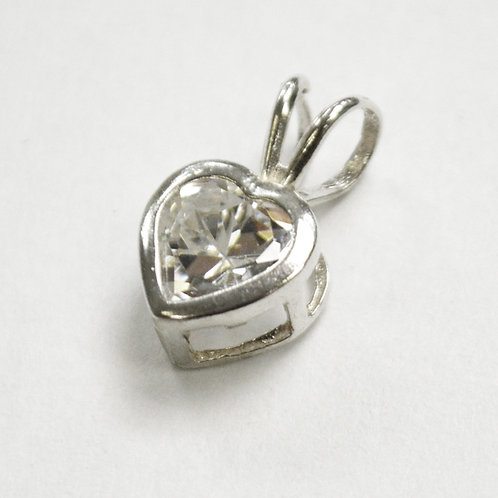 CZ Stone Pendant Sterling Silver 562035
