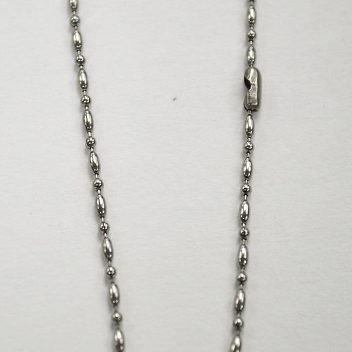 Oval Bead Stainless Steel