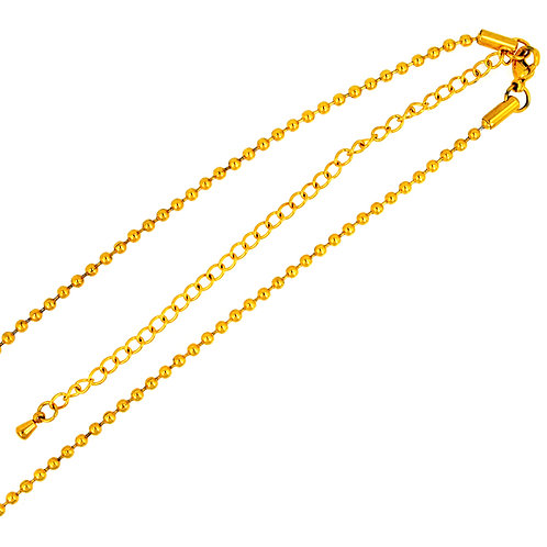 2.4mm Bead Gold Plated  Adjustable