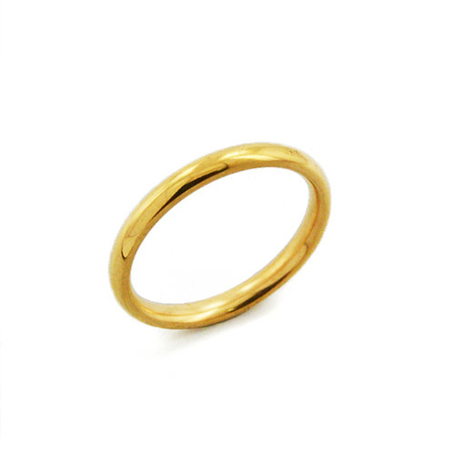 2MM GOLD PLAIN BAND RING 81-640-2