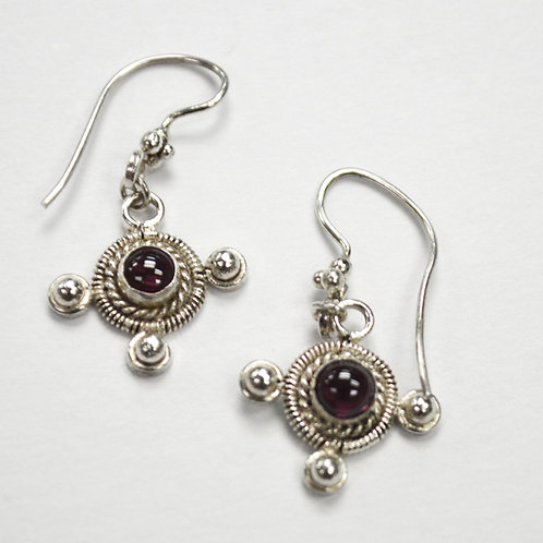 Garnet Stone Dangling Earring 534086