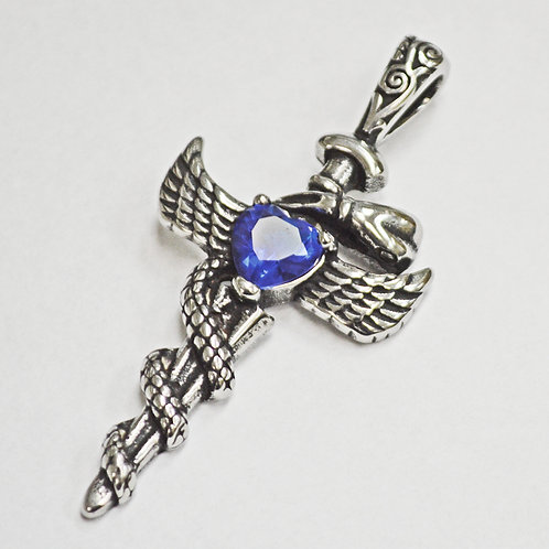 WING WITH SWORD Pendant(29x62mm)