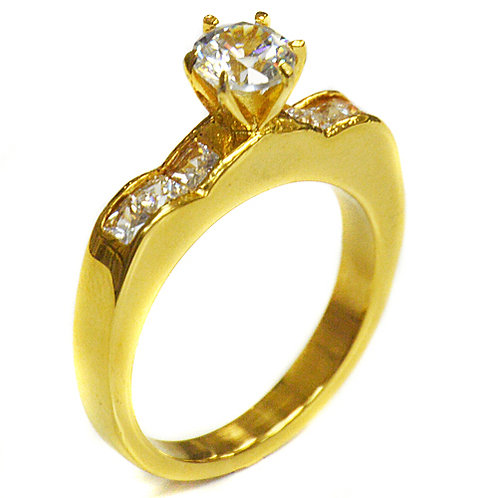 Gold Plated CZ Ring 81-857